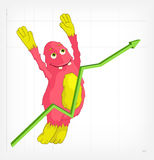 Funny Monster. Jumping. Royalty Free Stock Image