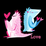 Funny monster lovers Royalty Free Stock Photos