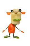 Funny monster made of vegetables Stock Image