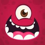 Funny Monster One Eye Face. Vector illustration. Halloween cartoon monster royalty free stock photo