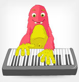 Funny Monster. Pianist. Stock Image