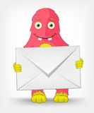 Funny Monster. Postman. Royalty Free Stock Image