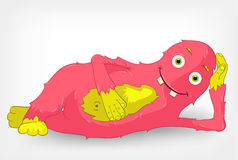 Funny Monster. Relaxation Stock Image
