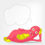 Funny Monster. Relaxation Royalty Free Stock Image