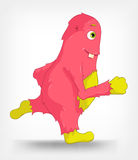 Funny Monster. Running. Royalty Free Stock Photography