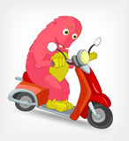Funny Monster. Scooter. Stock Photos