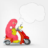 Funny Monster. Scooter. Stock Photography