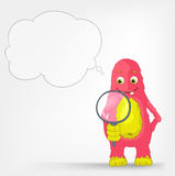 Funny Monster. Search. Royalty Free Stock Photo