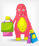 Funny Monster. Shopping. Royalty Free Stock Image