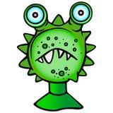 Funny Monster, small big-eyed monster. stock illustration