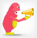 Funny Monster. Speaker. Royalty Free Stock Photography