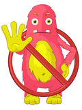 Funny Monster. Stop. Royalty Free Stock Photography