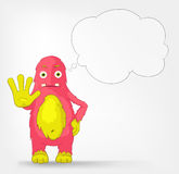 Funny Monster. Stop. Royalty Free Stock Photo