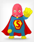 Funny Monster. Super hero. Stock Images