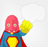Funny Monster. Super hero. Royalty Free Stock Photos