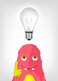 Funny Monster. Thinking. Royalty Free Stock Photo