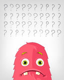 Funny Monster. Thinking. Stock Photography