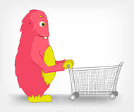 Funny Monster. Touch Screen. Royalty Free Stock Images