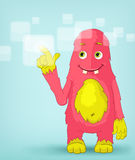 Funny Monster. Touch Screen. Royalty Free Stock Photos