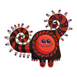 Funny monster. Vector doodle on a white background Royalty Free Stock Photo