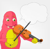 Funny Monster. Violinist. Royalty Free Stock Image