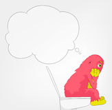 Funny Monster. WC. Royalty Free Stock Image