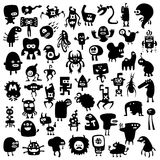Funny monsters. All the monsters are unique and not repeated with other collections Stock Photo