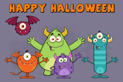 Funny Monsters Cartoon Characters Stock Photo