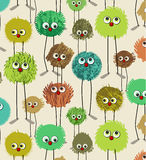 Funny monsters pattern Royalty Free Stock Photos
