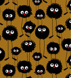 Funny monsters pattern Stock Photography