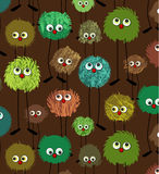 Funny monsters pattern Stock Photo
