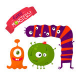 Funny monsters set Stock Image