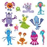 Funny monsters. Set of funny cartoon monsters. Vector illustration vector illustration