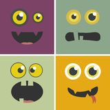 Funny monsters set. Halloween concept. Royalty Free Stock Images