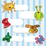 Funny Monsters Stickers Royalty Free Stock Image