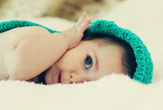 Funny 6 month old baby Royalty Free Stock Image