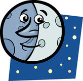 Funny moon cartoon illustration Royalty Free Stock Photography