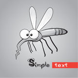 Funny Mosquito Royalty Free Stock Photo