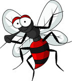 Funny mosquito cartoon. Vector illustration of  stop mosquito cartoon Royalty Free Stock Images