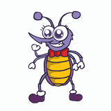 Funny mosquito cartoon character T-shirt design Stock Images