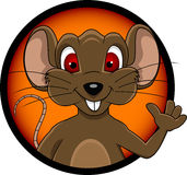Funny mouse cartoon. Vector illustration of funny mouse cartoon Stock Photos
