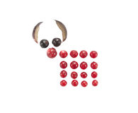 Funny mouse made of berries and grape. On isolated background Royalty Free Stock Photography