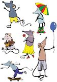 Funny mouse's. Lots of vector illustrations of funny mouse's vector illustration