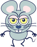 Funny mouse showing a naughty mood royalty free stock photo