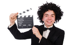 Funny movie director Royalty Free Stock Photos