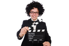 Funny movie director Stock Photos