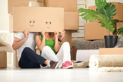 Funny moving house stock photos