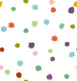 Funny multicolor abstract seamless background. Dotted texture.  Royalty Free Stock Photography