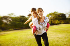 Funny with mum c Royalty Free Stock Photography