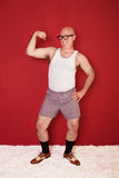 Funny Muscular Man Stock Images
